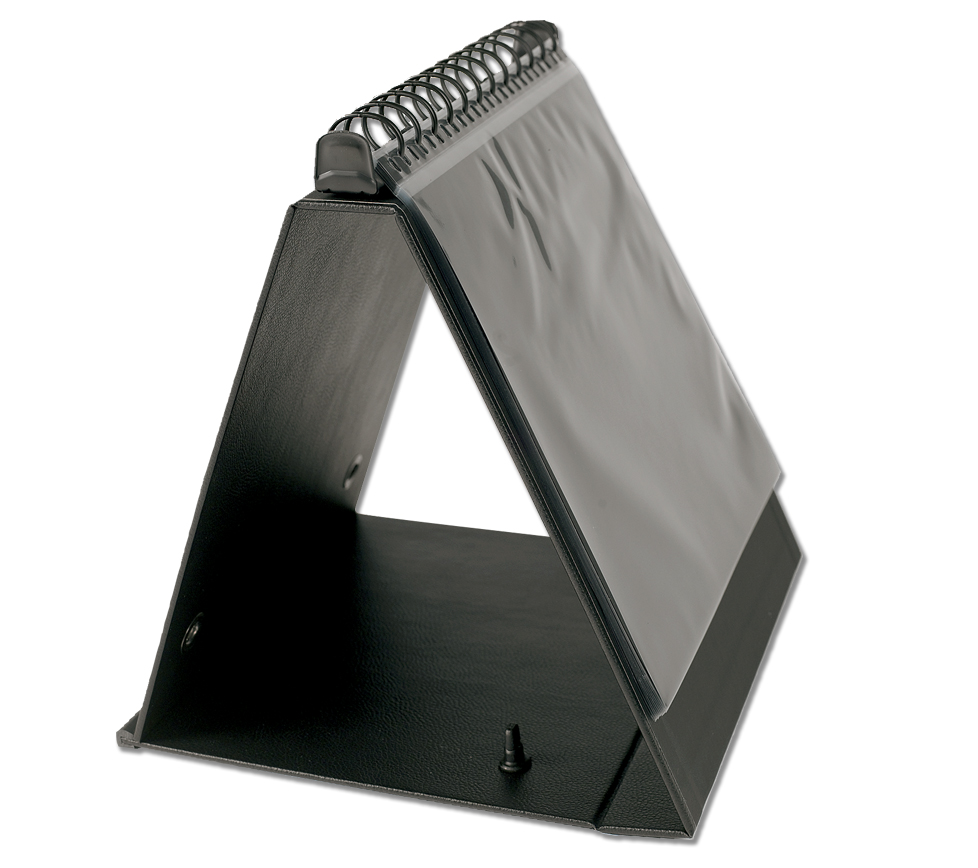 "11""x14"" presentation easel binder with handle."